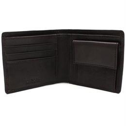 バーバリー (BURBERRY) 二折財布小銭入付き3998944NAVY/BLACK ブラックネイビー
