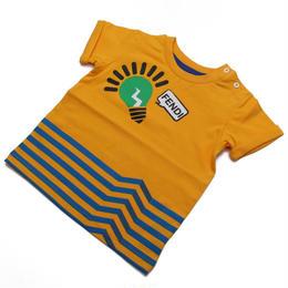 フェンディ (FENDI) ベビーTシャツ ベビー服BMI060 ST8 F0EU5オレンジ系サイズ(#9M)