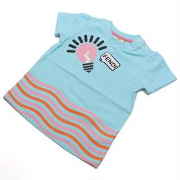 フェンディ (FENDI) ベビーTシャツ ベビー服BFI032 ST8 F0QF4ブルー系サイズ(#12M)