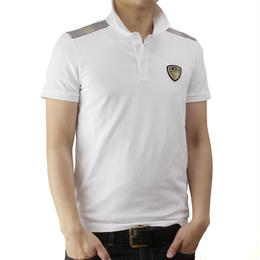 イーエーセブン (EA7) メンズポロシャツ273890 6P206 00010WHITE ホワイト系サイズ(#L)
