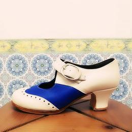 Zapatos Fatima Azul y Blanco