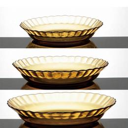 ガラスプレートSサイズ アンバー