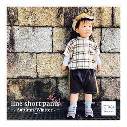ラインショートパンツ -  Autumn/Wintter -