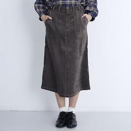 [1002sk]サイドベルトミモレ丈スカート