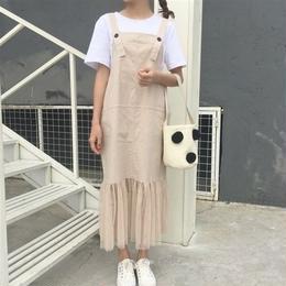 [1293op]チュールドッキングジャンパースカート
