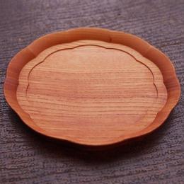 四十沢木材工芸 けやき輪花皿 五寸