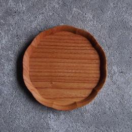 四十沢木材工芸 けやき輪花皿 五寸 段無
