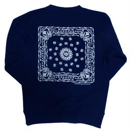 BANDANA CREW NECK SWEAT(NAVY)