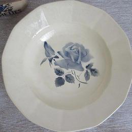 ディゴワン・サルグミンヌのブルー薔薇深皿(小)