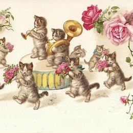 猫ちゃん達のパレード2 ポストカード