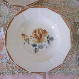 ディゴワン・サルグミンヌ薔薇モチーフ深皿(小)