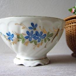青いお花モチーフのプチボウル2個セット