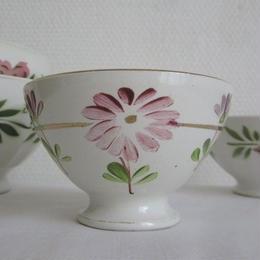 手描きピンクのお花のプチボウル