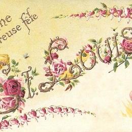 聖ルイーズの日をお祝いするポストカード
