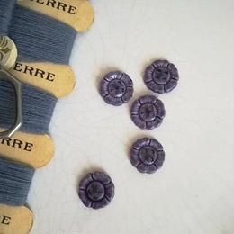 お花の形のボタン 紫(小)5個セット