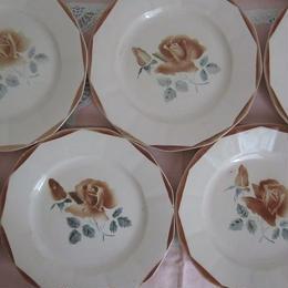 ディゴワン・サルグミンヌ薔薇モチーフ平皿(小)5~8