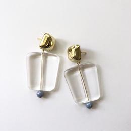 clear trapezoid beads pierce