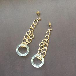 clear circle chain pierce
