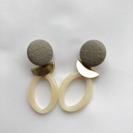 leather oval pierce