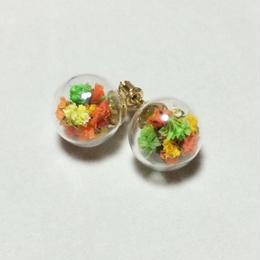 お花×ガラスドーム inオレンジ