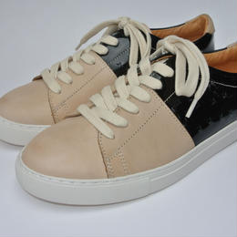 Color Block Lace Up BEIGE