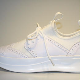 knitted wing tip WHITE