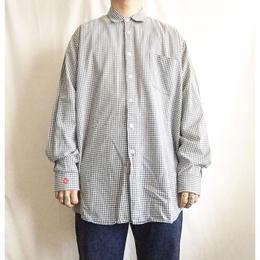 90's~ 黒タグ old Stussy ステューシー ギンガムチェックシャツ/古着 ビンテージ
