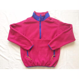 80s~ USA製 REI レイ ハーフジップ フリースジャケット ピンク×ブルー/古着 ビンテージ