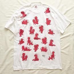 1990's USA製 エロtee 四十八手 レッドデビル 総柄 Tシャツ / 古着 ビンテージ