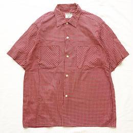 1960's~1970's USA製 ビンテージ チェック柄 半袖シャツ/古着 ヴィンテージ