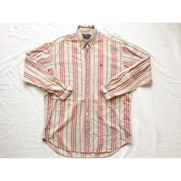 ~90s USA製 Ralph Lauren ラルフローレン ストライプシャツ/古着 ビンテージ