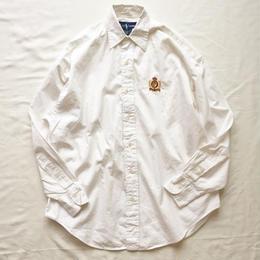 Ralph Lauren ラルフローレン ワンポイント刺繍  長袖 白シャツ / 古着 ビンテージ
