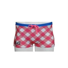 DIAMOND CHECK SHORT BOX(PINK)EL52927