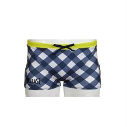 DIAMOND CHECK SHORT BOX(NAVY)EL52927