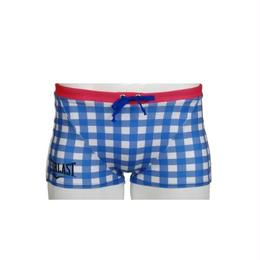GINGHAM CHECK SHORT BOX(BLUE)EL52926