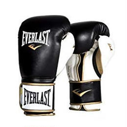 POWERLOCK HOOK & LOOP TRAINING GLOVES WITH SYNTHETIC LEATHER(BLACK/WHITE)