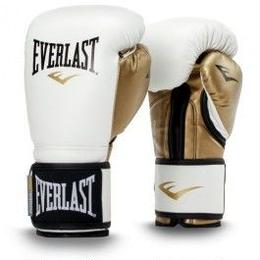 POWERLOCK HOOK & LOOP TRAINING GLOVES WITH SYNTHETIC LEATHER(WHITE/GOLD)