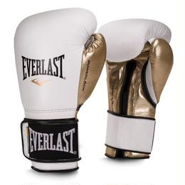 POWERLOCK HOOK & LOOP TRAINING GLOVES(WHITE/GOLD)