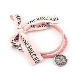 Jadore Ribbon Necklace Pink
