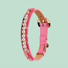 Mademoiselle Dog Collar PINK