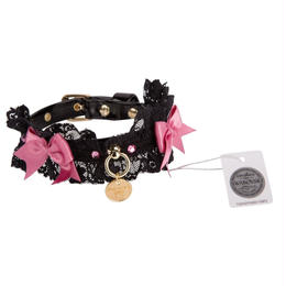Collar 1.2cm SHARON  black/strawberry