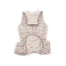 Pure Cotton Jumpsuit Beige