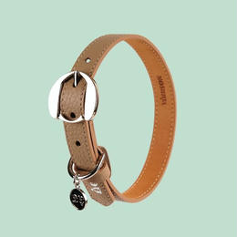 Hachiko Dog Collar DARK BEIGE