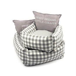 Cheez Check Cushion_Gray  Lサイズ