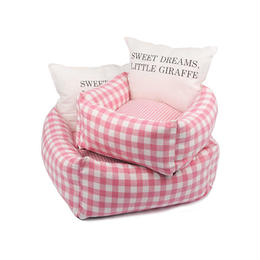 Cheez Check Cushion_Pink  Lサイズ