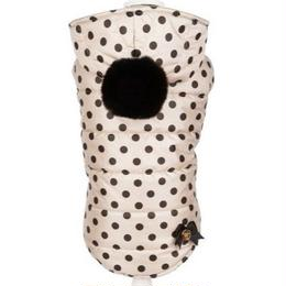 Coat CELINE beige with black polka dots