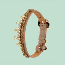 Monalisa Dog Collar DARK BEIGE