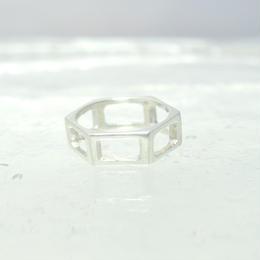 motif ring 7 - silver