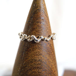 plant line ring 1 - silver