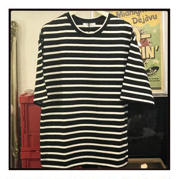 THEE  short sleeve border tee  シー